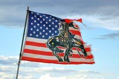 Heftige amerikanische Flagge Lizenzfreie Stockfotos