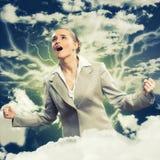 Heftige Frau Lizenzfreies Stockfoto