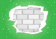 Heftige grüne Tapetenbacksteinmauer stock abbildung