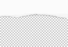 Heftige Papierkanten für Hintergrund Zerrissene Papierbeschaffenheit auf transparentem Hintergrund stockbild