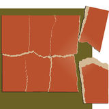 Heftige Papierpuzzlespielserie vektor abbildung