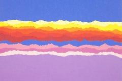 Heftige Papierstreifenränder. Stockbilder