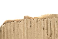 Heftige Pappe mit weißem Hintergrund Lizenzfreies Stockfoto