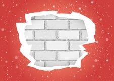 Heftige rote Tapetenbacksteinmauer lizenzfreie abbildung