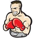 Heftiger Boxer Stockfoto