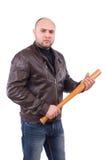 Heftiger Mann mit Baseballschläger Lizenzfreie Stockbilder