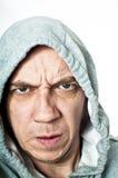 Heftiger mit Kapuze Verbrecher Lizenzfreie Stockfotografie