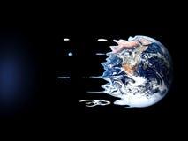 Heftiger Tod von Erde durch schwarzes Loch Lizenzfreie Stockfotos
