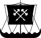 Heftiger Viking Ship Lizenzfreies Stockbild
