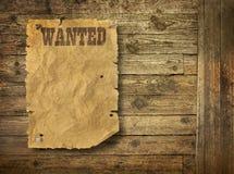 Heftiger wilder Westen wünschte Plakat Lizenzfreie Stockbilder