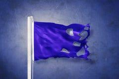 Heftiges blauer Sumpf-Schwertlilie-Fliegen gegen Schmutzhintergrund Lizenzfreies Stockfoto