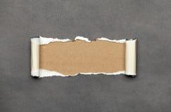 Heftiges gekräuseltes Papier mit Platz für Ihre Meldung Stockbilder