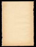 Heftiges heraus altes Papier Lizenzfreies Stockbild
