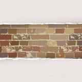 Heftiges Papier auf Backsteinmauerhintergrund Vektor Stockfotos