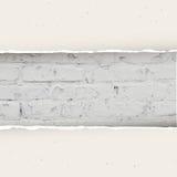 Heftiges Papier auf Backsteinmauerhintergrund Vektor Lizenzfreie Stockbilder