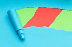 Heftiges Papier mit Platz für Meldung stockbild