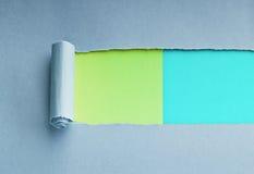 Heftiges Papier mit Platz für Meldung stockbilder