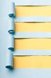 Heftiges Papier mit Platz für Meldung stockfotografie
