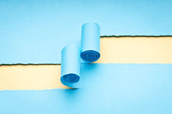 Heftiges Papier mit Platz für Meldung stockfotos