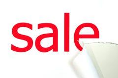 Heftiges Papier mit Verkauf Lizenzfreie Stockbilder