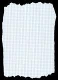 Heftiges quadriertes Papier trennte stockfoto