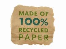 Heftiges Stück braunes Papier Stockbild