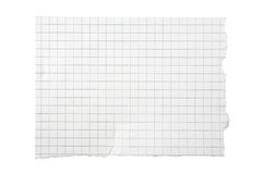 Heftiges Stück quadriertes Papier Lizenzfreies Stockfoto