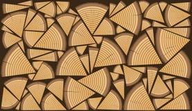Heftklammer von Biomasse, vereinbartes Brennholz Lizenzfreie Stockfotos