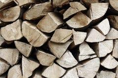 Heftklammer von Biomasse, vereinbartes Brennholz Stockfoto