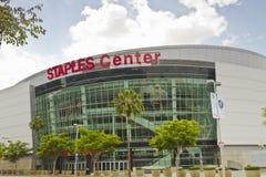 Heftklammern zentrieren in im Stadtzentrum gelegenem Los Angeles Lizenzfreie Stockbilder