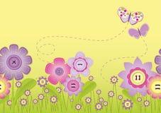 Heftung - Blumenfeld Stockbild