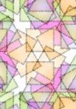 Heftungs-Gewinde-Steppdecke-Muster Stockbilder