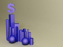 Hegemony of the dollar. abstract background. 3d Stock Images