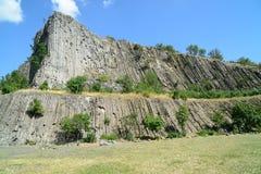 Hegyestu -垂直毛发从冷却的熔岩 免版税图库摄影