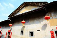 Chinese tradtional Hakka residential architecture Royalty Free Stock Photos