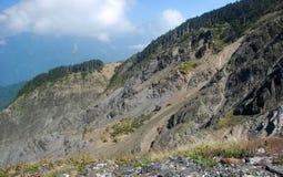Hehuan山,台湾陡坡  库存照片