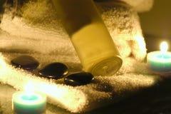 Heißöl und Kerzenlicht Stockfotos