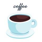 Heiße aromatische Illustration des schwarzen Kaffees Stockfoto