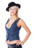 Heiße blonde Frau Lizenzfreie Stockfotos