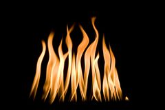 Heiße Flammen Stockfoto