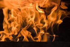 Heiße Flammen lizenzfreies stockbild
