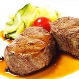 Heiße Fleisch-Teller - Kalbfleisch-Medaillons lizenzfreie stockbilder