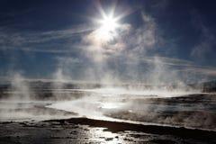 Heiße Frühlinge, Bolivien Stockfotografie