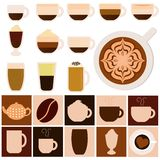 Heiße Getränke - Kaffee, Tee, Schokolade Lizenzfreie Stockbilder