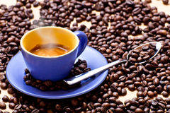 Heiße Kaffeetasse Stockfotos