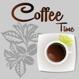 Heiße Kaffeevektorikone für Cafés Lizenzfreie Stockfotografie