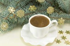 Heiße Kaffeezeit des Winters Lizenzfreies Stockbild