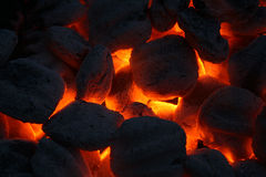 Heiße Kohlen 2 Lizenzfreies Stockfoto