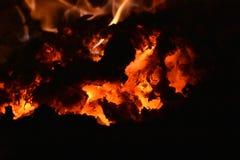Heiße Kohlen Lizenzfreies Stockfoto