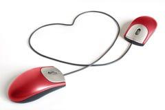 Heiße on-line-Datierung Lizenzfreies Stockbild